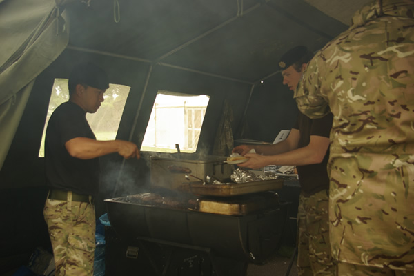 21 Engineer Regiment Providing Burgers & Hot Dogs at Tastes of Yorkshire 2012